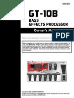 GT-10B Owner's Manual