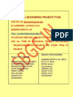 final year mechanical engineering projects in chennai