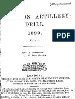 Garrison Artillery Drill Volume I - 1899