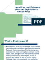 Environmental Law and Petroleum Exploration and Production in Afica