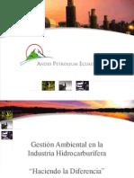 Gestión Ambiental en la Industria Hidrocarburifica Andes Petroleum