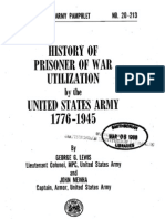 Prisoner of War Utilization by the United States Army 1776-1945.