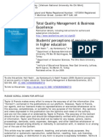 2009 Students Perceptions of Service Quality in Higher Education
