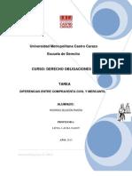 Tarea 4 Diferencias Entre Compraventa Civil y Mercantil