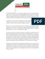 Carta Roberto Abe 210112