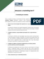 A Marketing terv tartalma