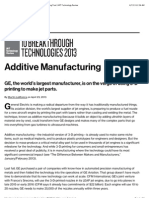 3-D Printing Will Soon Become a Routine Manufacturing Tool | MIT Technology Review