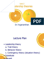 Unit 3- Theories of Leadership