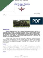 British Sniper Training - The Basic Cadre