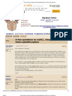A Few Questions on Wait(), Sleep(Int) and InterruptedException (SCJP Forum at JavaRanch)