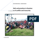 Oxfam Report on Sorcery in PNG - 2010
