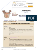 A Couple of Threaded Questions (Threads Forum at JavaRanch)