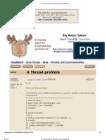 A Thread Problem (Threads Forum at JavaRanch)
