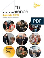 Liberal Democrat Federal Conference Agenda, Autumn 2013 (14-18 Sept)