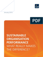 Sustainable Organisation Performance STF Interim Report