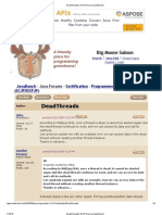 DeadThreads (SCJP Forum at JavaRanch)