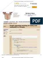 Doubt Regarding Working of Wait() and NotifyAll() in Threads (Threads Forum at JavaRanch)