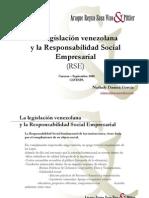 Presentacin La Legislacin Venezolana y La RSE - Araque-Reyna Venezuela