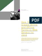 Create Onlie Offline Webdynpro Java