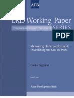 Measuring Underemployment