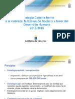 Estrategia Contra la pobreza, la exclusión social a favor del desarrollo humano 2013-2015
