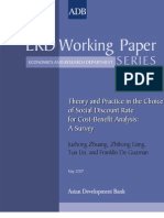 Theory and Practice in the Choice of Social Discount Rate for Cost-Benefit Analysis