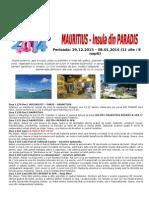 Oferta Revelion 2014 Mauritius