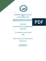 Analisis de Los Ejes de La Politicas Educativas Dominicanas