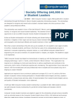IEEE Computer Society Offering $40,000 in Scholarships for Student Leaders