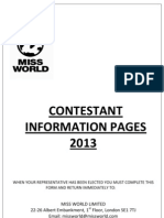 Contestant Information Pages 1-9 2013