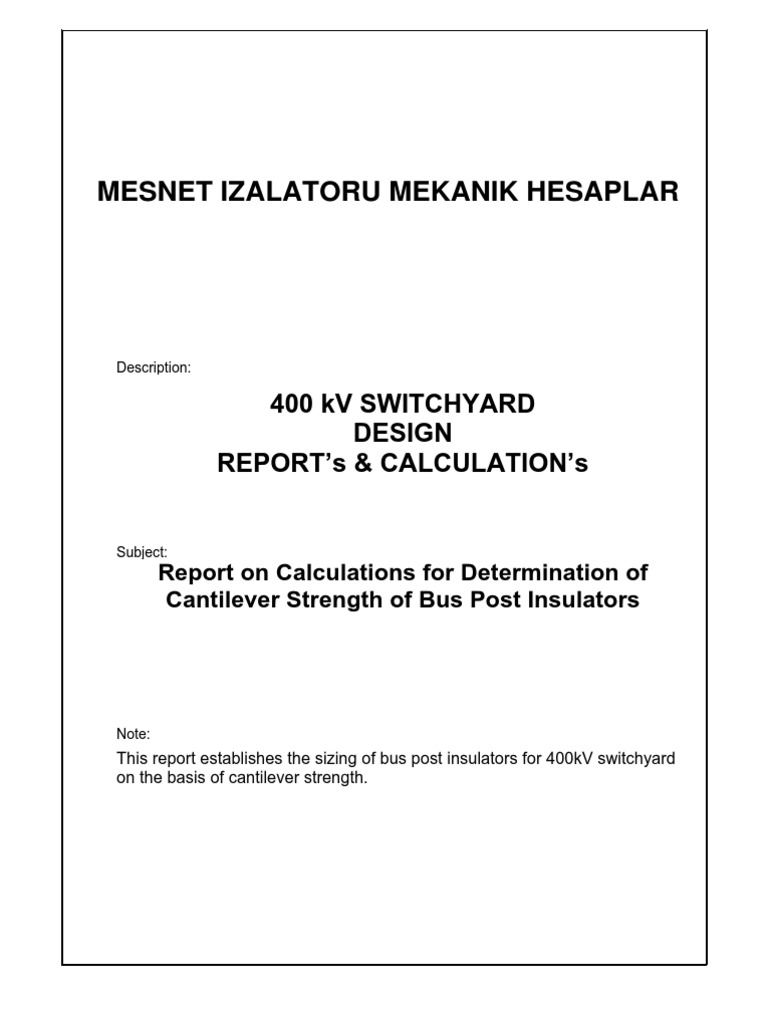 400kV Switchyard Calculations | Electrical Substation | Insulator