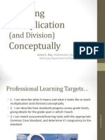 Teaching Multiplication and Division Conceptually Grades 3-5