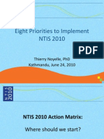 Priorities to Implement NTIS 2010 v2