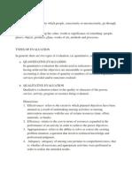Evaluation, Leadership Report