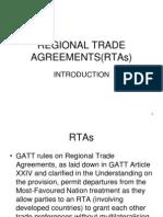 Regional Trade Agreements(Rtas)