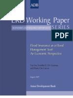 Flood Insurance as a Flood Management Tool