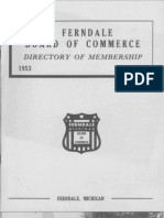1953-54 Ferndale Board of Commerce Membership Directory