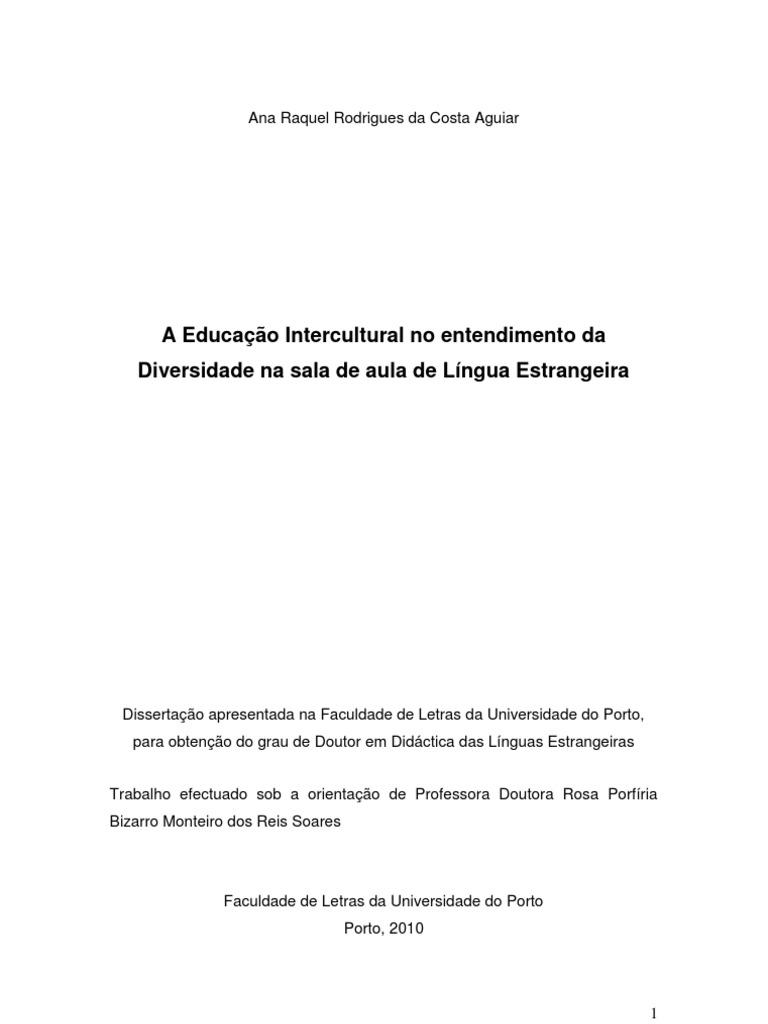 ec09fef16d7 A Educação Intercultural no entendimento da Diversidade na sala de Aula