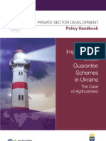Implementing Credit Guarantee Schemes in Ukraine
