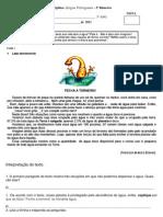AVALIAÇÃO BIMESTRAL 5 ano de portugues