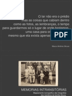 MEMORIAS INTRANSITÓRIAS - apresentação