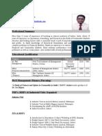 Vishal Sood CV
