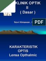 K11 Karakteristik Optik Lensa Opthalmic