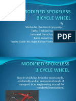 Modified Spokeless Bicycle Wheel