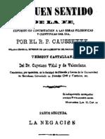 El Buen Sentido de La Fe-Tomo II-Caussette
