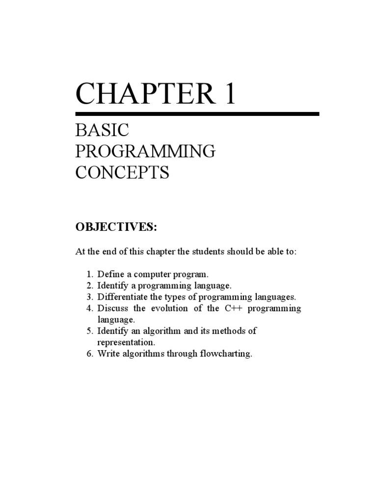 CHAPTER 1 Basic Programming Concepts | C (Programming