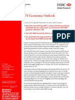 US Economic Outlook - Lower 2013 Growth Forecast on Slow Start to Year