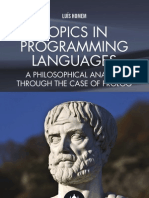 9781909287723 Topics in Programming Languages:A Philosophical Analysis Through the Case of Prolog