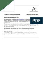 103029 TSA Specimen Test