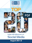 SHRM Report August - Top 20 HR Indian Influencers in Social Media